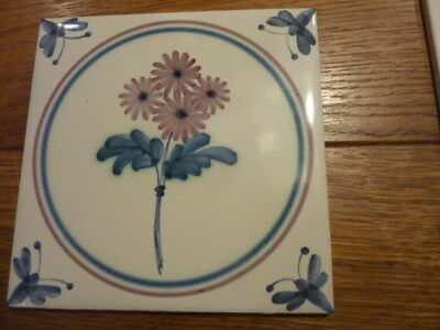 Hand painted Tiles Rye Pottery Flowers salvaged various designs