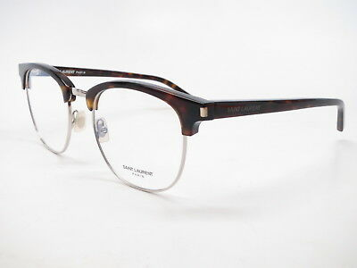 New Authentic Saint Laurent SL 104 002 Havana Eyeglasses 52mm