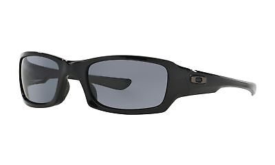 Oakley Fives Squared Sunglasses Polished Black Frame/Gray Lens-OO9238-04