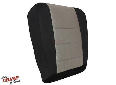 2008 2009 2010 Ford F450 F550 XLT-Driver Side Bottom Cloth Seat Cover Black/Gray
