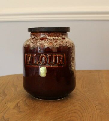 Fosters of Cornwall Honeycomb Dripware Flour Jar/Bin/Storage/Retro/Vintage
