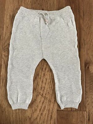 H&M Baby Girl Drawstring Knit Bottoms Pants Soft Gray Size 12-18 Months NWT