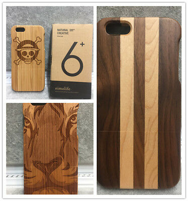 """BIG SALE!!  Real wooden mobile cover for """"iphone 6 plus """" natural wood with box"""