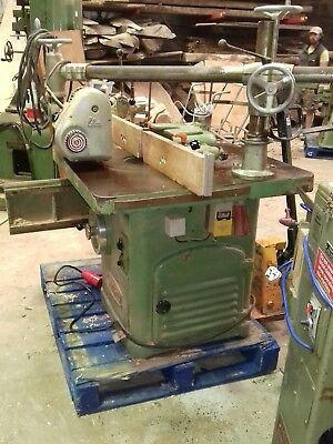spindle moulder with sliding table single end tenoner powerfeed wadkin scm