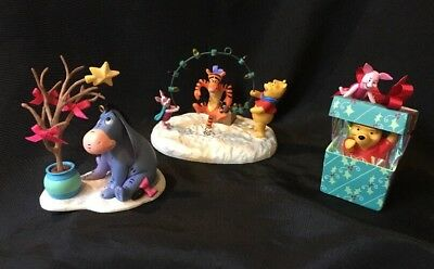 Lot Of 3 Winnie The Pooh & friends, Eeyore, Tigger, Piglet Hallmark Ornaments