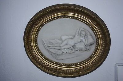 Wall relief Alabaster Wood ROE BROS Art. Colormen Picture Frame Makers Gilders
