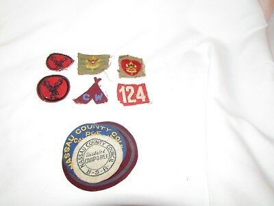 Vintage Boy Scouts Of America Patch Lot Of 9 Patches See Photos
