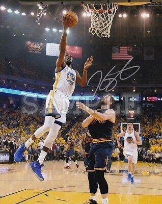 Kevin Durant signed 8x10 Autograph Photo RP - Golden State Warriors - NBA