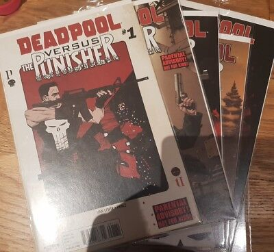 Deadpool vs Punisher 1-5 All First Prints Completed bagged and boarded