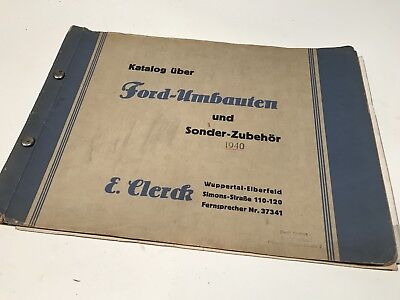 Ford Motor Company Germany Car Truck Bus Catalog Manual 1940's Genuine German