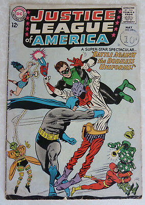 Justice League of America #35 - Battle Against the Bodiless Uniforms - 1965