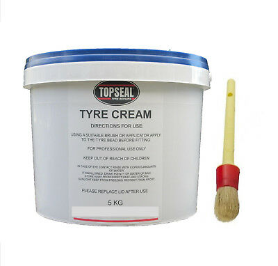 Tyre Fitting Cream Tyre Soap Premium Soft Lub 5kg Tub With Paste Brush