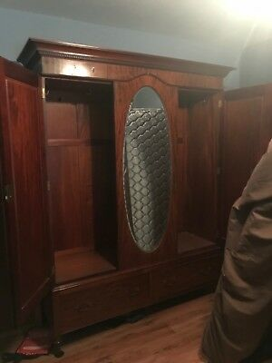 Antique French Armoire with Mirror