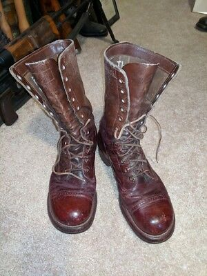 Wwii Us Airborne Boots- Vet Named