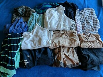Bundle Of Preowned Maternity Tops, Camis, Maxi Dress, Yoga Capris, and Lounge...