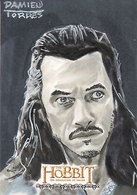 The Hobbit The Desolation Of Smaug, Damien Torres Sketch Card