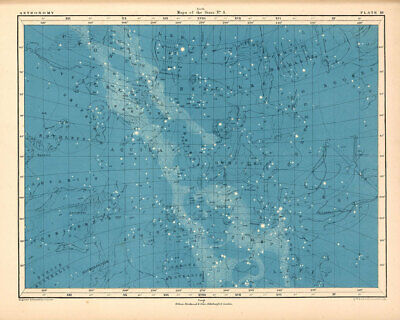 Atlas of Astronomy by Alex Keith Johnston Plate - 18. Maps of the Stars no.4