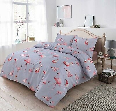 Flamingo Pattern Luxurious Modern Duvet Cover Sets Reversible Bedding Sets By MS