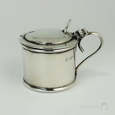 Antique GEORGE V STERLING SILVER MUSTARD POT Chester 1916 Robert Pringle