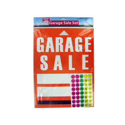 Set of 24 Bulk Lot Garage Sale Sign And Sticker Set
