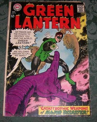Green Lantern 57 VG- DC Silver Age Gil Kane Major Disaster