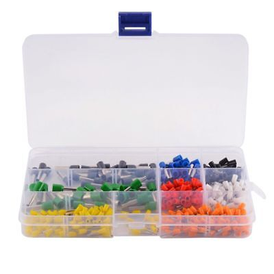 400Pcs Wire Ferrules Crimp Terminal Connector AWG Assortment Insulated Cord Pin