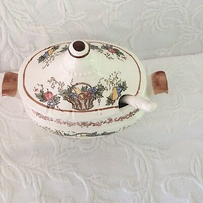 Vintage Japan Small Soup Tureen with Ladle