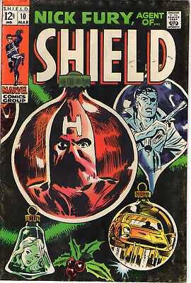 Nick Fury Agent of Shield #10 March 1969 (5.0)