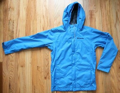 Boys COLUMBIA Rain Jacket Shell Windbreaker with Hood - Size M (10-12)
