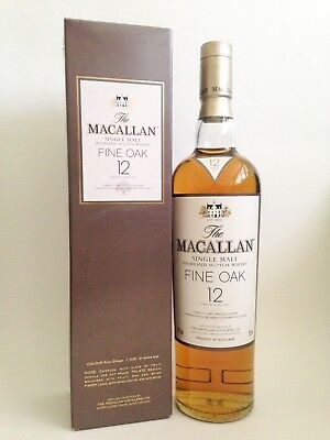 Macallan 12 Year Old Fine Oak Single Malt Scotch Whisky - Older Bottling (700mL)