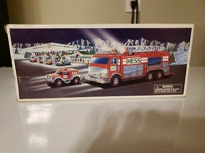 Used 2005 Hess Emergency Toy Truck with Rescue Vehicles in box