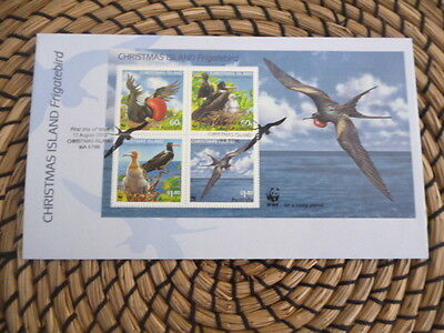 Christmas Island fdc 2010 Frigatebird mini sheet