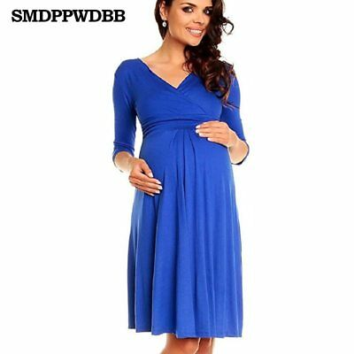 Christmas Pregnant Women Evening Party Dress Lady Maternity Clothes Plus Size