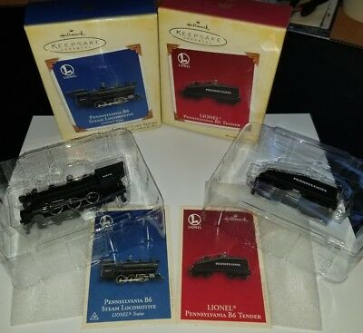 Hallmark Keepsake Ornaments-Lionel Train-Penn B6 Steam Locomotive and Tender
