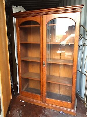 Edwardian Glass Fronted Book Case