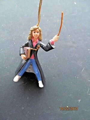 Harry Potter 2000 Christmas Ornament Hermione Granger W Her Wand & Book