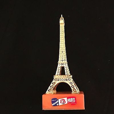Vintage Gold Color Eiffel Tower Souvenir Made in France