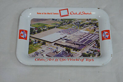Ohio Art, Home Of Etch-A-Sketch The World Of Toys Metal Tray Ohio Art Ash Tray