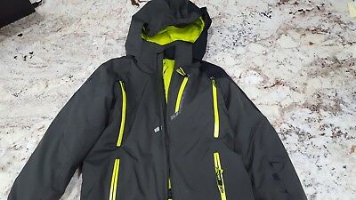 Boys Spyder Avenger Jacket Black and Neon Size 10 ,Ski, snow, winter