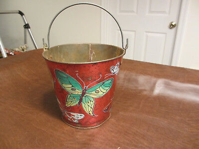 VINTAGE ANTIQUE 1950s 60s CHEIN TOYS BUTTERFLY SAND WATER PAIL BEACH TOY C OTHER
