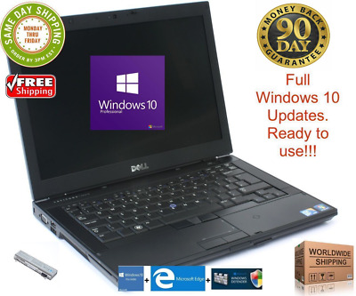 "Dell Latitude E6410 i3 i5 i7 4Gb 8Gb 500GB HDD SSD 14"" Win10 WebCam Wifi Ready"