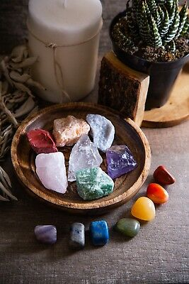 Energy Infused Natural Raw Healing Crystals and Tumbled Chakra Stones