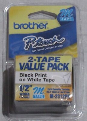 Brother P-touch Non-laminated Type M SRS Tape Cartridges M231 2-Pack New In Box
