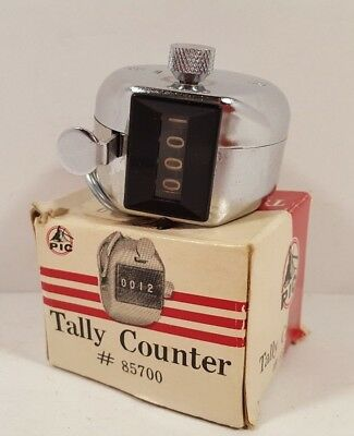 Pic Tally Counter #85700 Mechanical Manually counts up to 9999 Comes in Box Used