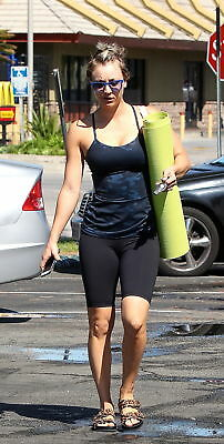 Kaley Cuoco With Green Exercise Mat 8x10 Quality Photo Print