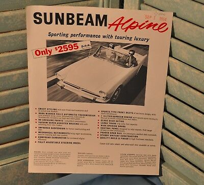 Sunbeam Alpine 1964 Automotive Advertisement Ad