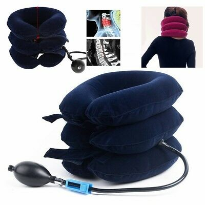 Inflatable Portable Travel Air Pillow Air Cushion Neck Head Flight Rest