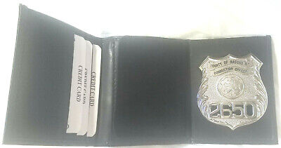 NY Nassau County Police Officer Badge//Money//Credit Cards Wallet in a Gift Box