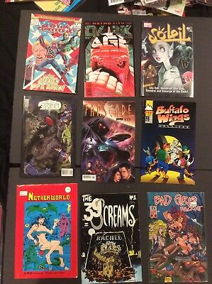 MIXED COMIC BOOK LOT, 9 COMICS, INDEPENDENT, NUMBER 1's