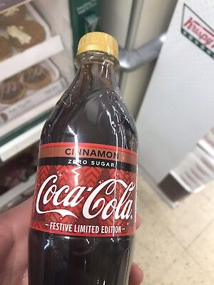 500ml bottle of Coke Zero with Cinnamon - Festive Limited edition HARD TO FIND